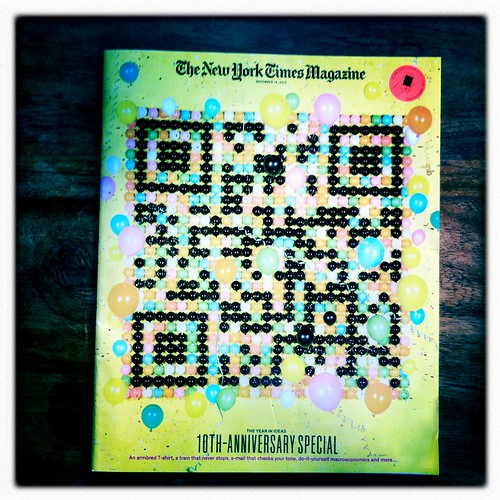 QR Code on NYT Magazine cover