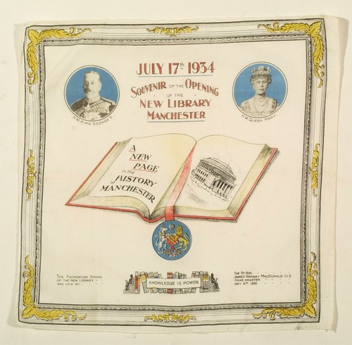 Souvenir handkerchief, 17 Jul 1934 (GB127.M740/8/4/3/6)