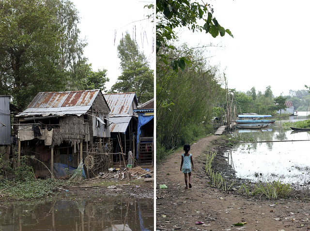 Into the Cham village