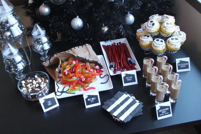 The Nightmare Before Christmas birthday dessert bar