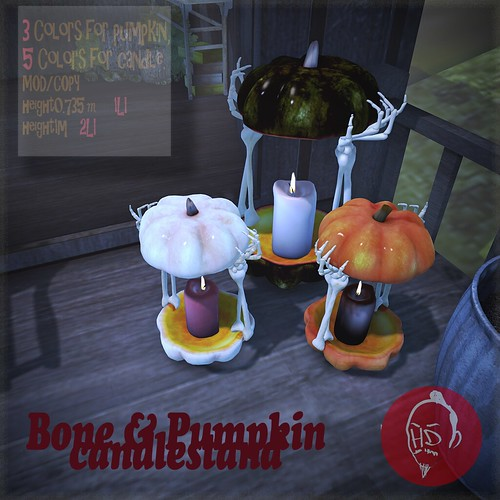 [HD]Bone & Pumpkin candlestand