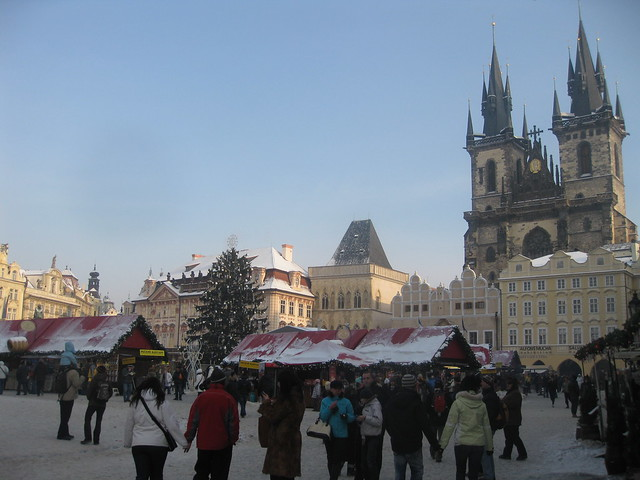 Christmas Market and Týnský chrám