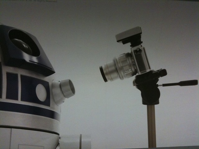 R2D2 bonds with a digital camera