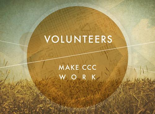 Volunteers make CCC work