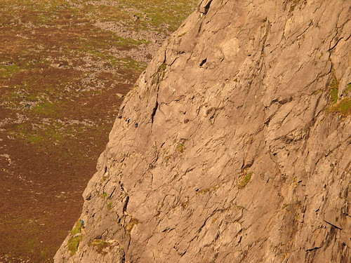 Climbers on 'Ordinary Route' - Craig Cwm Silyn