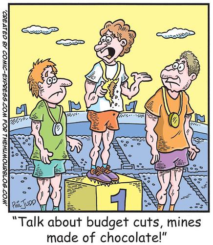 Political Cartoon about Budget Cuts
