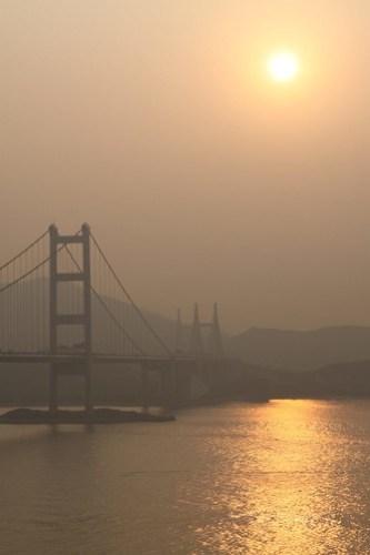 Lantau Link at sunset