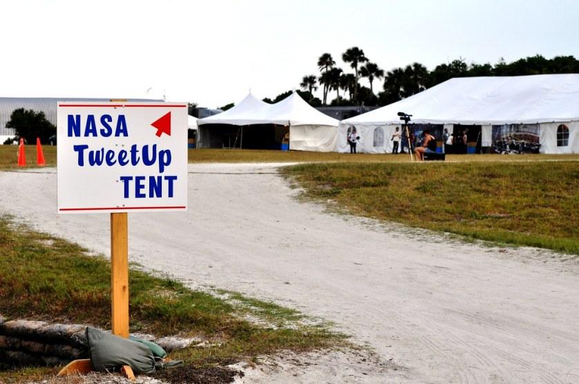 #NASATweetup Tent Sign, April 28, 2011.