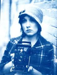Cyanotype of Kathleen With Voigtlander