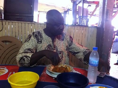 Olumide Ogunsusi Enjoys A Meal of Amala, Ewedu, Gbegiri & Assorted Meats by Jujufilms