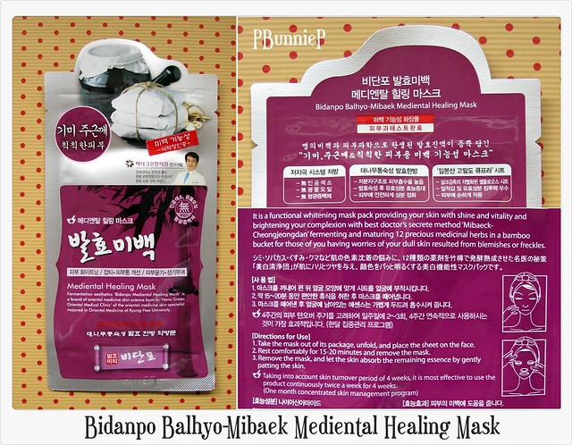 Bidanpo Balhyo-Mibaek Mediental Mask_01