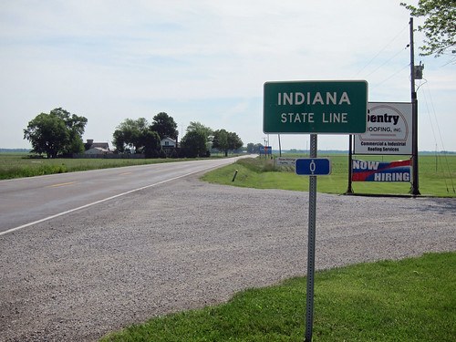 Indiana State Line, US 136