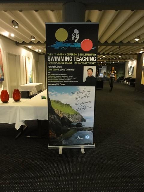 Our conference poster up at Hotel Føroyar