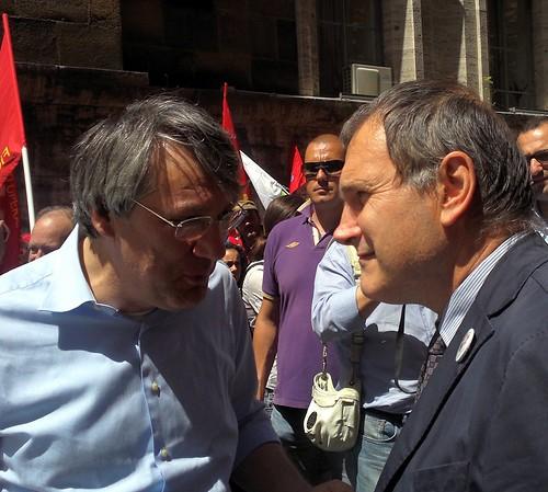 Maurizio Landini e Paolo Ferrero
