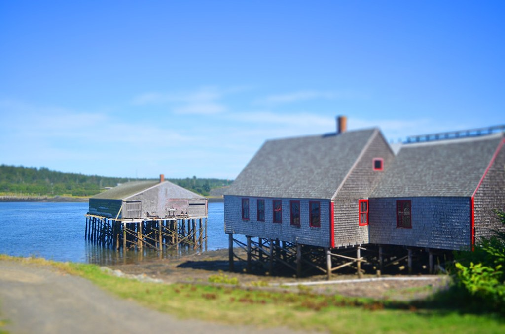 lubec downtown tilt-shift action