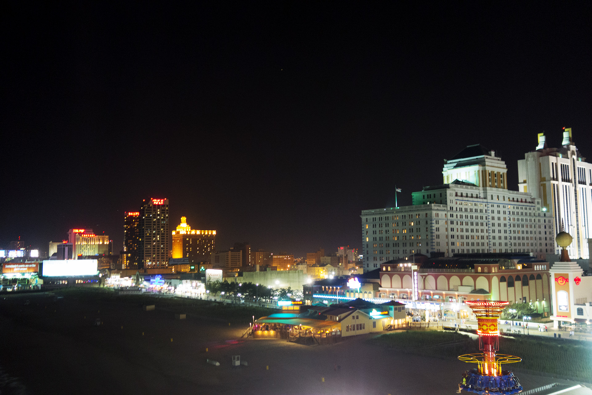 Atlantic City by night.