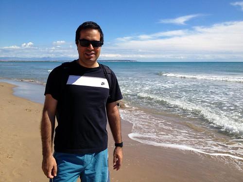 Nacho en la playa
