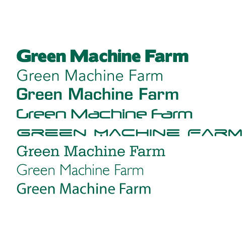 Green Machine sample fonts