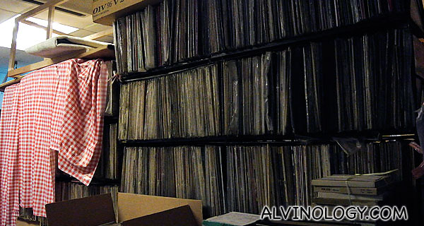 More RediSilver vinyl records - this storeroom used to be the recording studio
