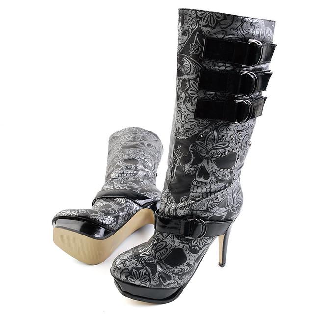 Iron Fist Sweet Skull O Mine Boots