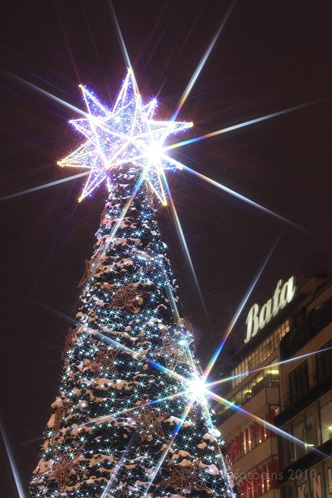 Double sparkle, Wenceslas Square, Prague