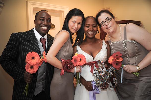 my Man of Honour, bridesladies and me
