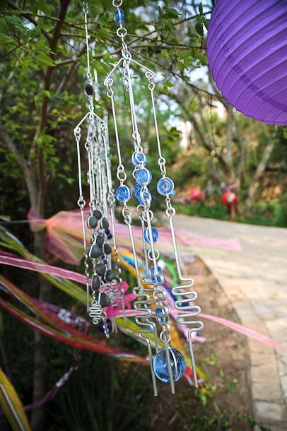 ribbon, suncatchers and lanterns