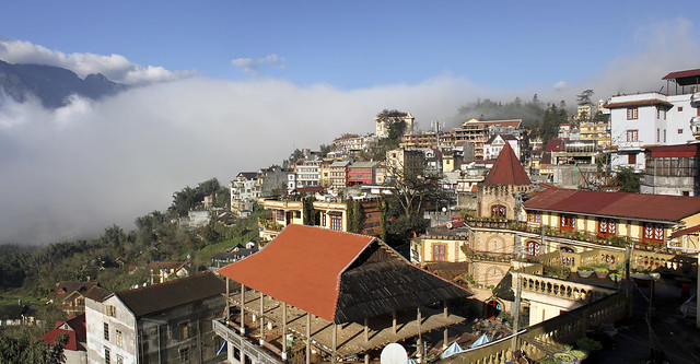 Sapa, coming out of  the clouds