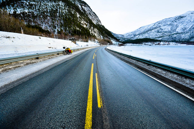 Coastal road E6 in Nordland