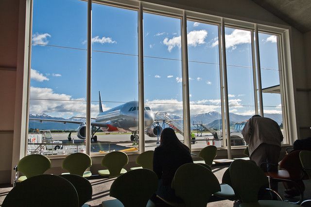 Windows at Queenstown Airport