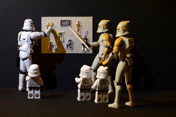 A history lession for the mini Clones and the Mini-Stormtrooper