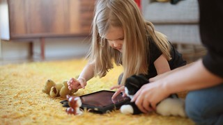 Children now grow up with tablets