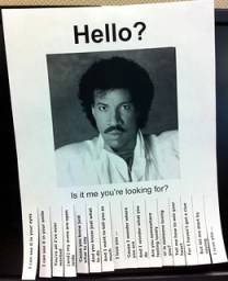 Lionel Richie Hello poster