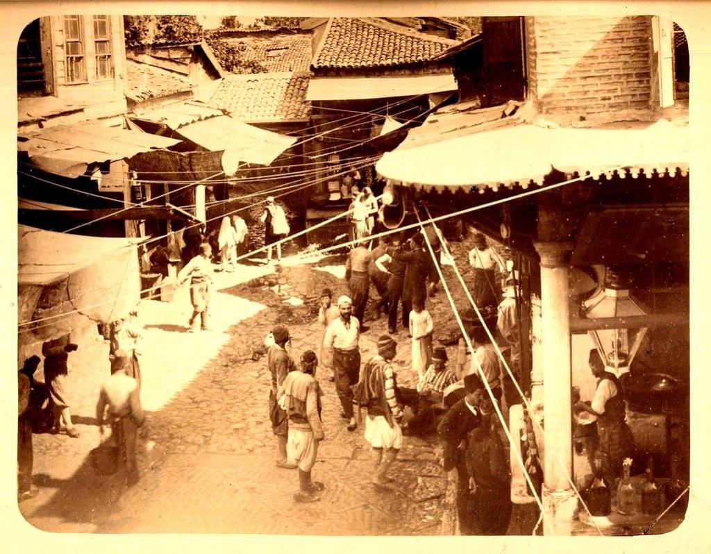 Bazaar in Smyrna / Izmir (circa 1890)
