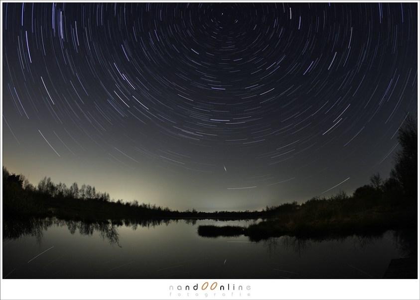 Sterrensporen: waar draaien de sterren omheen? De poolster natuurlijk