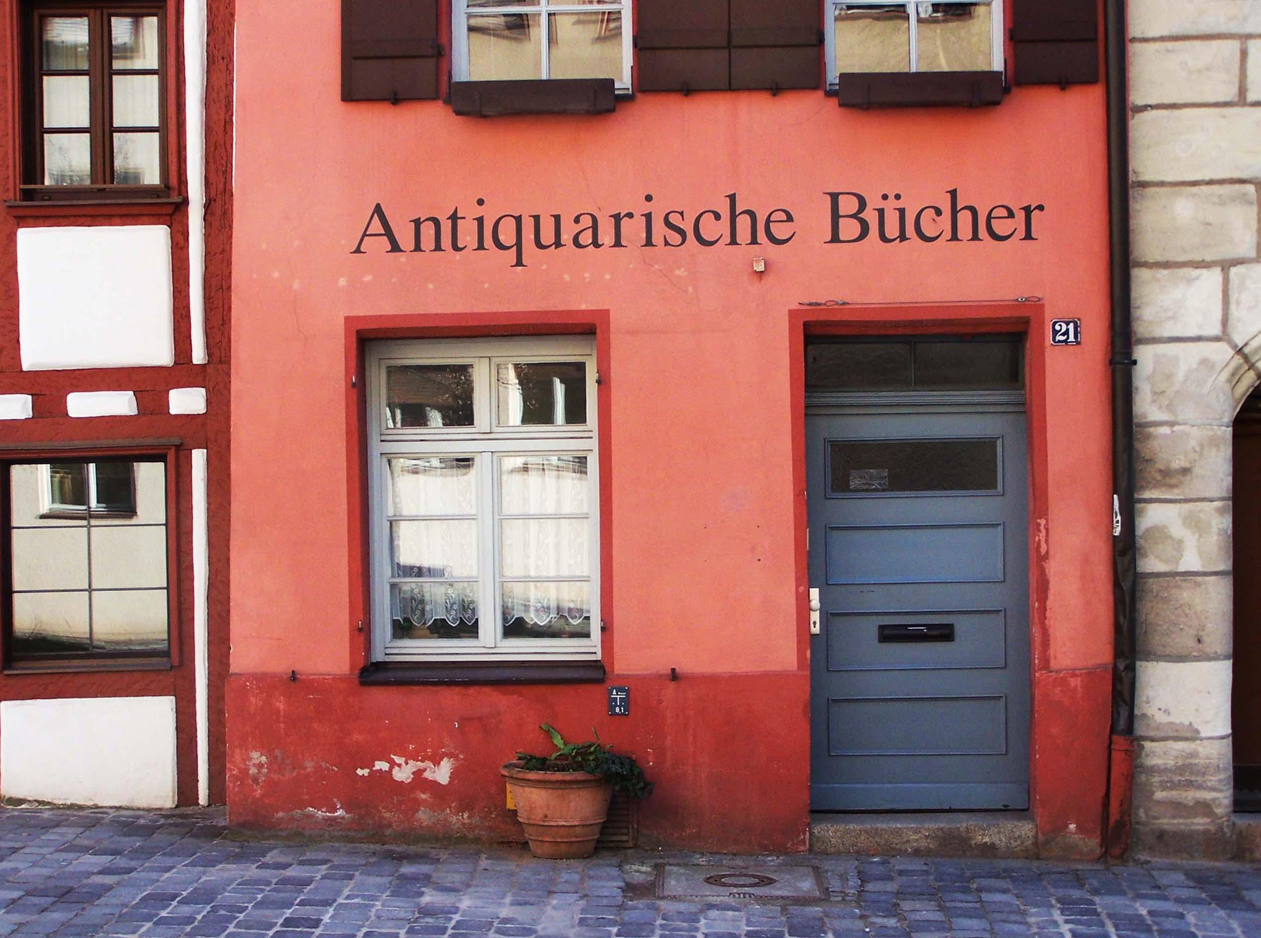 Antiquarische Bücher, Weißgerbergasse 21, Nürnberg