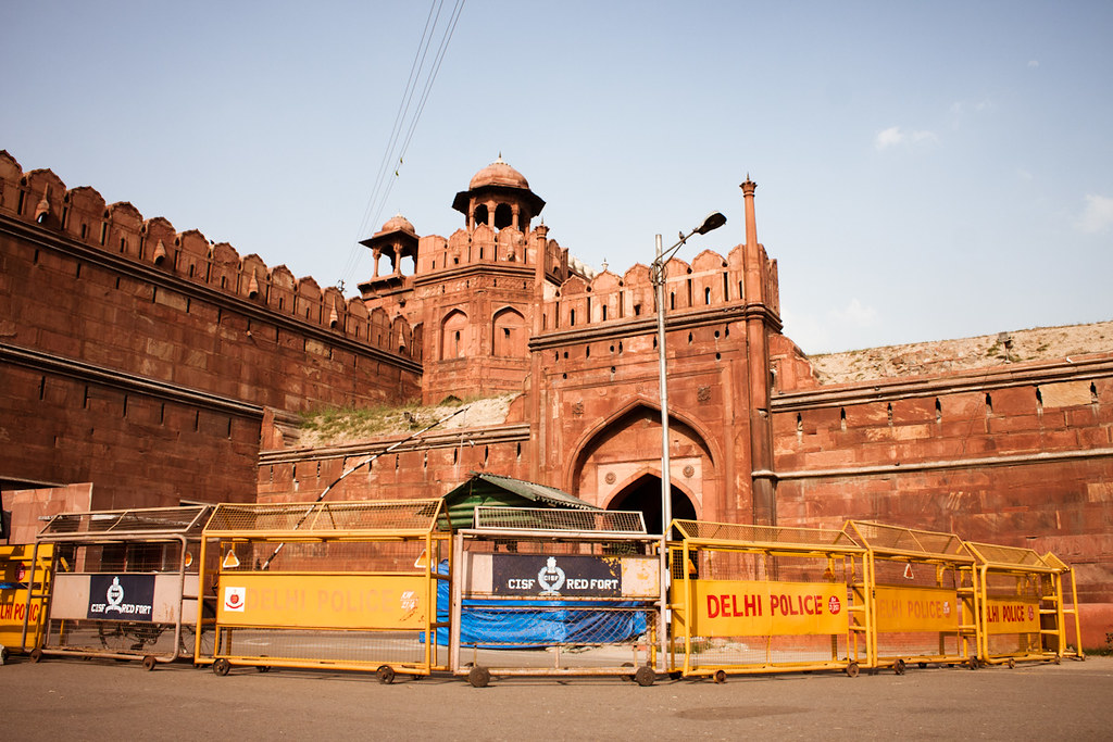 Fortifications at Red Fort