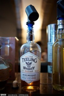 Mijn ontdekking van de avond, de Teeling Single Grain Irish Whisky
