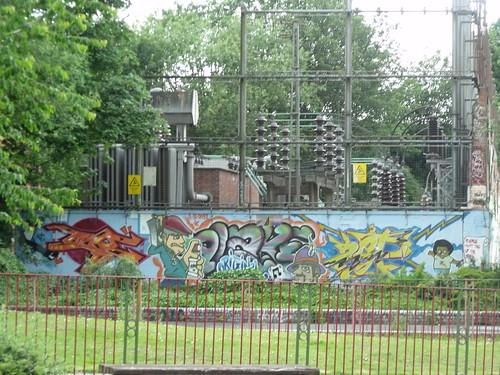 Bournbrook Recreation Ground, Selly Oak - new graffiti street art by ell brown