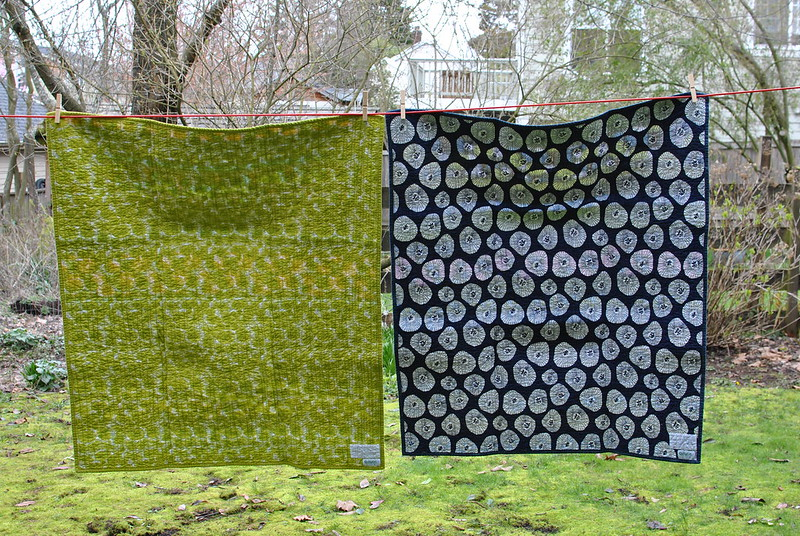 "Twin boys ""Get Together"" Quilts - back"