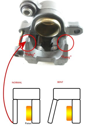 Rear brake caliper bends  Suzuki SV650 Forum: SV650, SV1000, Gladius Forums