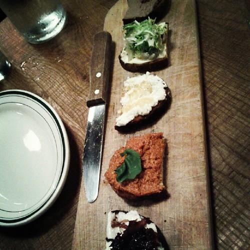 Crostini platter at Betto