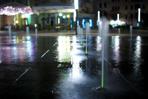 Wasserspiel am Jorge-Gomondai-Platz