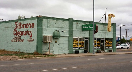 Fillmore Cleaners. Route 66, Amarillo, Texas, USA. Photo copyright Jen Baker/Liberty Images; all rights reserved.