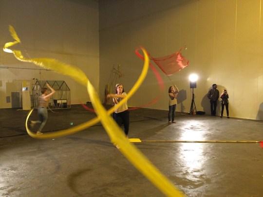 Flag Aerobics / Ala Bandera demo at Mediamatic Fabriek