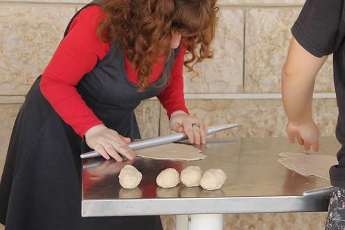 Kneading Matzah Dough