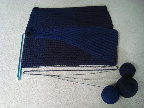Gradated scarf WIP
