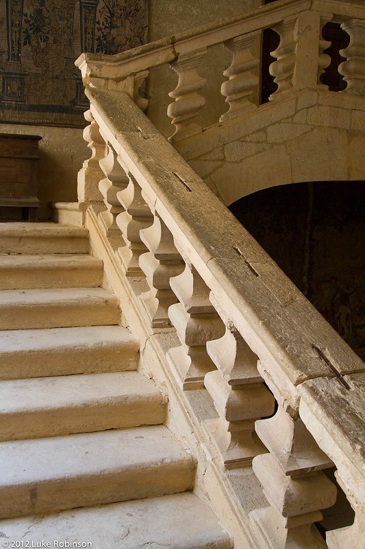 Interior staircase of Chateau Beynac-et-Cazenac