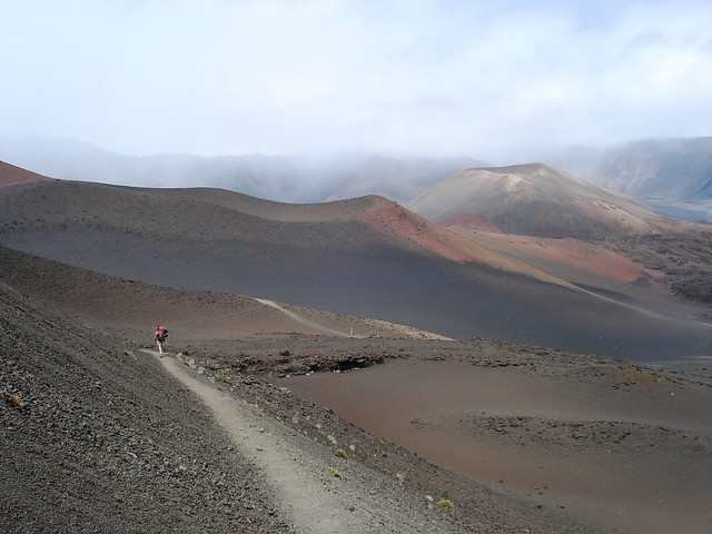 Jinger Hiking in Haleakala