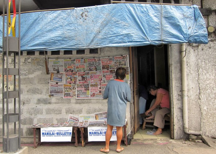tabloid newsstand